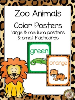 Zoo Animals Color Identification Posters {Jungle Safari Theme}