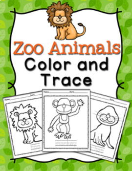 Zoo Animals Color and Trace