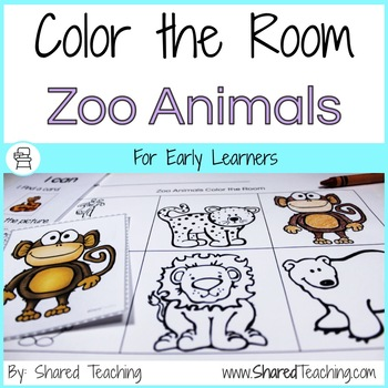 Zoo Animals Color the Room