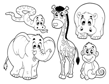 Zoo Animals Coloring Book by Energy and Sciences | TpT