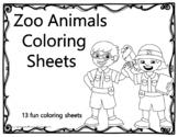 Zoo Animals Coloring Sheets