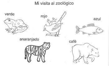 Zoo Animals Colors Activity