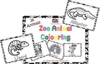 Zoo Animals Colouring | Fun Worksheets