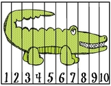 """Zoo Animals """"Count By"""" Puzzles (1's, 2's, 5's and 10's)"""