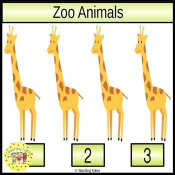 Zoo Animals Clip Task Cards