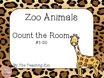 Zoo Animals Count the Room {1 to 20}