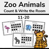 Zoo Animals Ten Frames, Count the Room 11-20