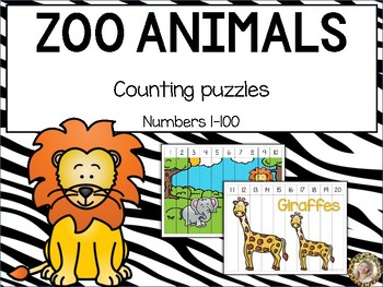 Zoo Animals Counting Puzzles 1 to 100