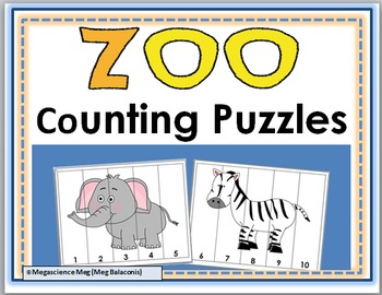 Zoo Math Number Puzzles - Zoo Animals