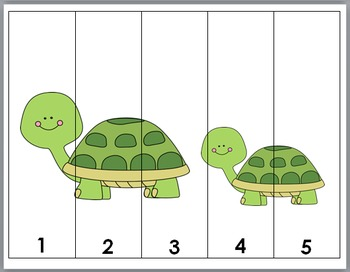 Zoo Math Number Puzzles 1-10 - Zoo Animals