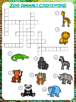 zoo animals counting worksheet freebie by prestige english tpt. Black Bedroom Furniture Sets. Home Design Ideas