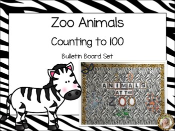 Zoo Animals Counting to 100 Bulletin Board