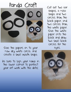 Zoo Animals Crafts and Prompts