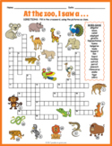 Zoo Animals Crossword Puzzle