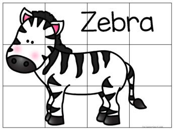 Zoo Animals Cut & Paste Puzzles by The Teaching Zoo | TpT