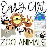 Zoo Animals Easy Art: Adapted Art and Writing Activities