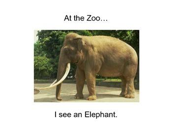 Zoo Animals Easy Reader - Sight Words