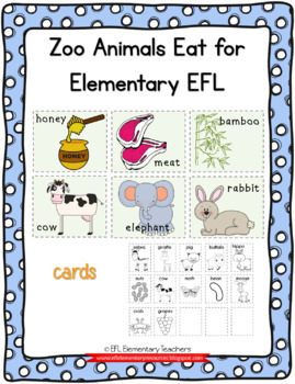 Zoo Animals Eat  Cards and activity sheets