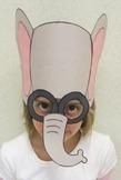 Zoo Animals Elephant Sentence Strip Hat Mask