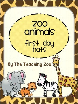 Zoo Animals First Day Hats {Jungle Safari Theme}
