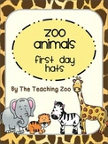 Zoo Animals First Day Hats {Jungle Safari Theme}