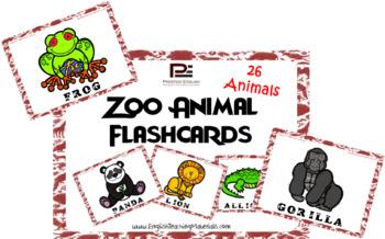 Zoo Animals Flashcards | FREEBIE