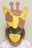 Zoo Animals Giraffe Sentence Strip Hat Mask