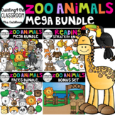 Zoo Animals Clip Art Mega Bundle {Reading Strategy Animals} 138 images