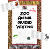 Zoo Animals Guided Writing