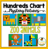 Zoo Animals Hundreds Chart Mystery Pictures