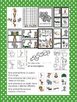 Zoo Animals In Spanish