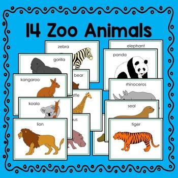 Zoo Animal Fun Fact Cards (informational text)