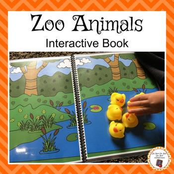 Zoo Animals Interactive Book