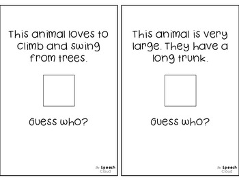 Zoo Animals Interactive Books & Activites