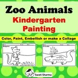 Zoo Animals Kindergarten Painting