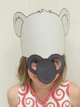 Zoo Animals Koala Bear Sentence Strip Hat Mask