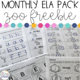Zoo Animals Language Arts Printables for Special Education