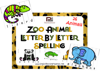 Zoo Animals Letter by Letter Spelling