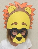 Zoo Animals Lion Sentence Strip Hat Mask