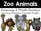 Zoo Literacy and Math Centers Kindergarten