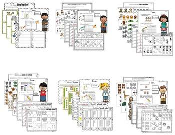 Zoo Literacy and Math Centers Kindergarten