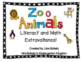 Zoo Animals Literacy and Math Extravaganza
