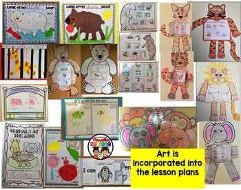 Zoo Animals: MEGA THEME PACK: Lesson plans, Literacy, Math, Science