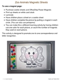 Zoo Animals Magnet Sheets