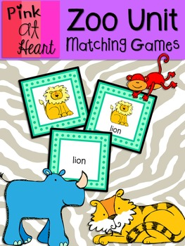 Zoo Unit - Matching Games