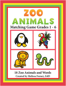 Zoo Animals Literacy Centers for Grades 1-6