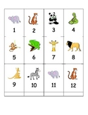 Zoo Animals Math and Literacy Centers