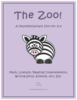 """""""Zoo Animals"""" Math and Literacy Unit - Aligned with Common Core Standards"""