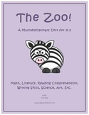 """Zoo Animals"" Math and Literacy Unit - Aligned with Common"
