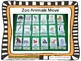 Zoo Animals Move Cards and file folder